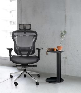 Rika mesh back office chair with headrest
