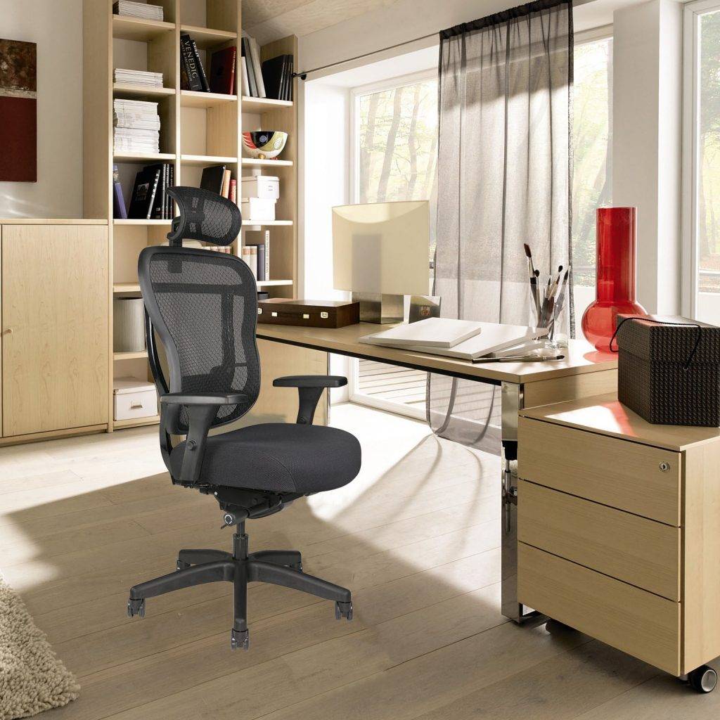 RKF Mesh-back Office Chair with extra-thick seat cushion